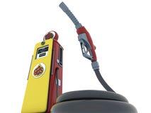 Gas-Pumpen-Schlange Stockbilder