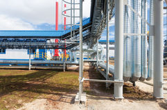 Gas pumping station Stock Images