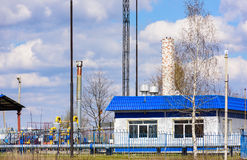 Gas pumping station Stock Photos