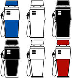 Gas Pumps. Two different gas pumps with color variations Royalty Free Stock Photos