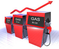 Gas pumps Stock Photography
