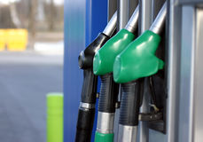 Gas pumps Stock Image