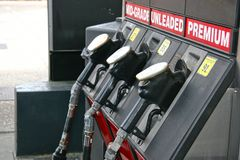 Gas pumps Royalty Free Stock Photo