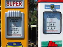 Gasoline pump display vintage Royalty Free Stock Photography