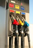 Gas pumps on petrol station Royalty Free Stock Photography