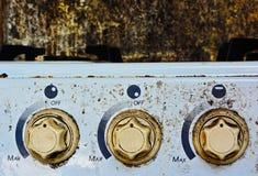 Gas range buttons Royalty Free Stock Photos