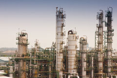 Gas Refineries Plants Stock Images