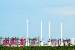 Gas refinery Royalty Free Stock Photography