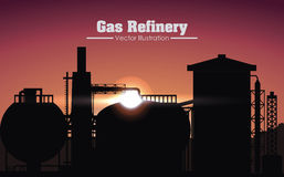Gas refinery design Stock Images
