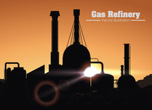 Gas refinery design Royalty Free Stock Image