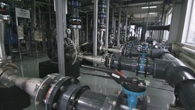 Gas Refinery Equipment with Pipes System Meters