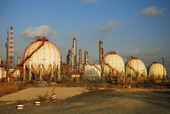 Gas Refinery, fuel tank Royalty Free Stock Image