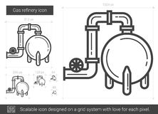 Gas refinery line icon. Royalty Free Stock Image
