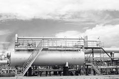 Gas refinery plant Royalty Free Stock Photos