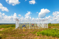 Gas regulatory and distribution point in summer sunny day Stock Photography