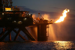 Gas Rig Flaring Stock Images