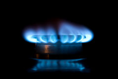 Gas ring with flames Stock Photography