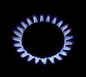 Gas ring flames Stock Images
