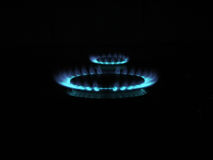 Gas rings. In the kitchen Royalty Free Stock Photo
