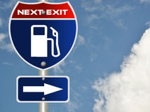 Gas road sign Stock Images