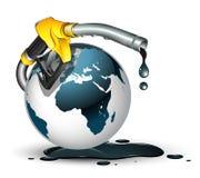 Gas rond het wereldconcept stock illustratie