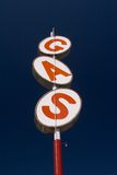 Gas Sign. Vintage Gas Sign against a blue sky Stock Image