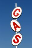 Gas sign. A tall roadside gas sign from an old gas station located in the middle of nowhere, wyoming royalty free stock photos