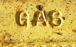 Gas Sign Stock Photography