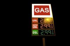Gas sign digital Stock Image