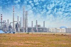 Gas som bearbetar fabriken Royaltyfria Foton