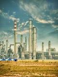 Gas som bearbetar fabriken Arkivfoton