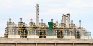 Gas som bearbetar fabriken Arkivfoto