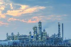 Gas som bearbetar fabriken Arkivbild