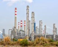 Gas som bearbetar fabriken. landskap med gasbransch Royaltyfria Bilder