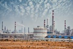 Gas som bearbetar fabriken med gas och oljeindustri Royaltyfria Foton
