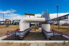 Gas som pumpar stationen av Purpe, Ryssland Royaltyfria Foton