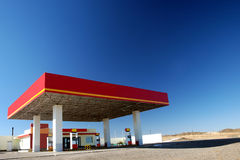 Gas station. A gas station in the way to Xinjiang China with blue sky.photoed in china in October stock photo