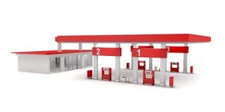 Gas station. On white background vector illustration