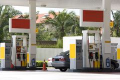 Gas Station. Image of a gas station with a motorcar being refulled Stock Images