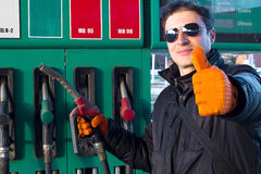 Gas Station Attendant Stock Image