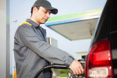 Gas station attendant portrait Royalty Free Stock Photography