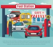 Gas Station Background Illustration Stock Images