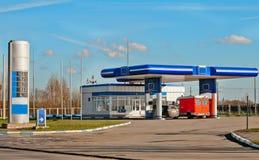 Gas station. On a background sky Stock Photography