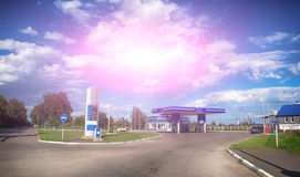 Gas station. On a background sky royalty free stock photos