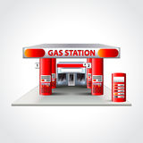 Gas station building  vector illustration Stock Images