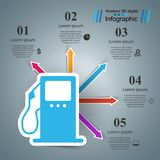 Gas station - business infographic. Vector eps 10 Royalty Free Stock Photography