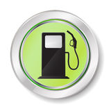 Gas station button Royalty Free Stock Images