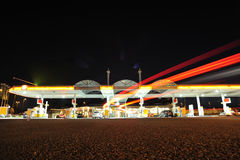Gas Station By Night Stock Photo