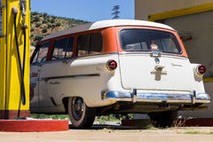 Gas station with car. Old gas station and classic car in southeastern Arizona Stock Images