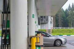 gas station with cars Royalty Free Stock Photos